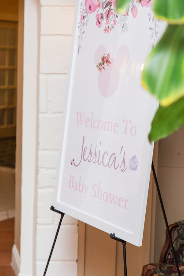 Minnie Mouse Baby Shower Welcome Sign