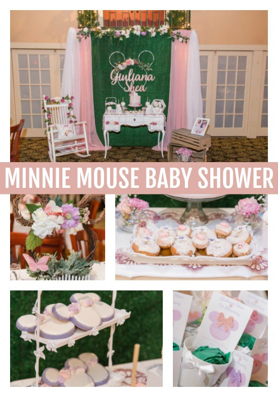 Gorgeous Minnie Mouse Baby Shower - Pretty My Party