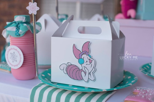 Piglet In Onederland 1st Birthday Party Favor Boxes