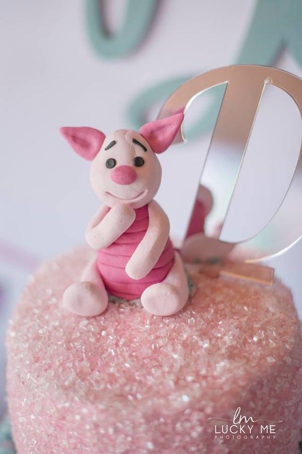 Piglet In Onederland 1st Birthday Cake Topper