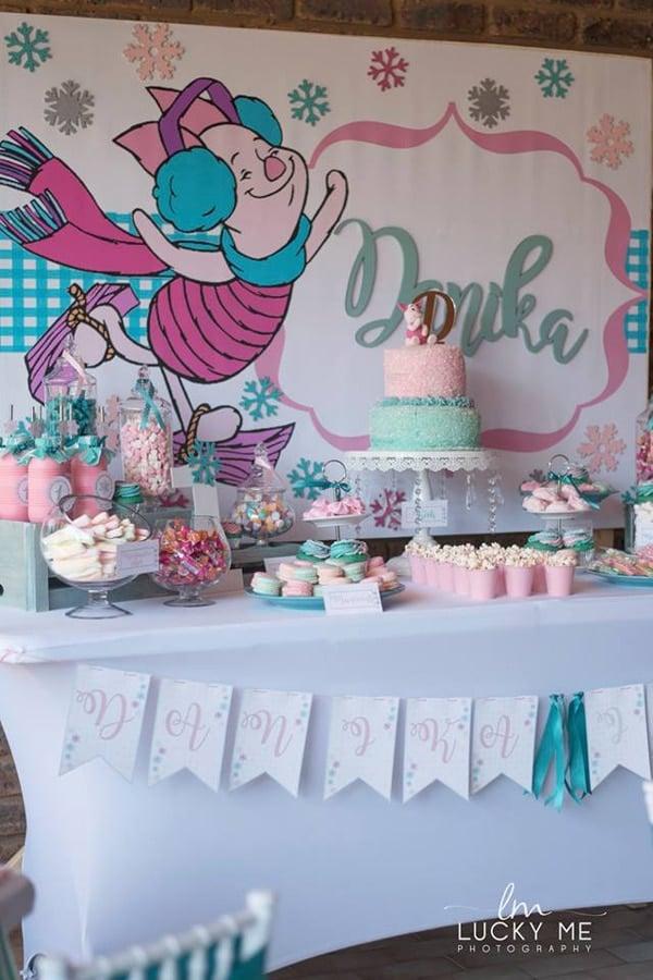 Piglet In Onederland 1st Birthday Party Dessert Table