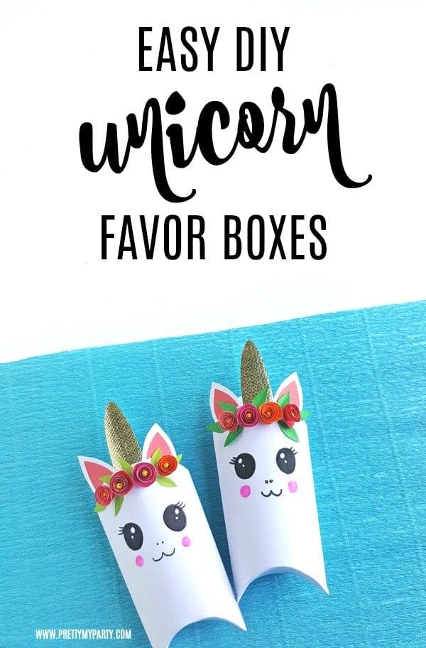 DIY Unicorn Favor Box
