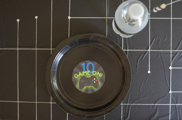 Gamer Birthday Party Place Setting