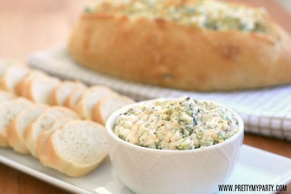 Baked Broccoli Parmesan Dip - Pretty My Party