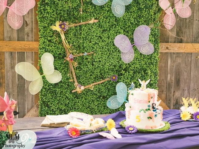 Fairy Birthday Party Cake Table