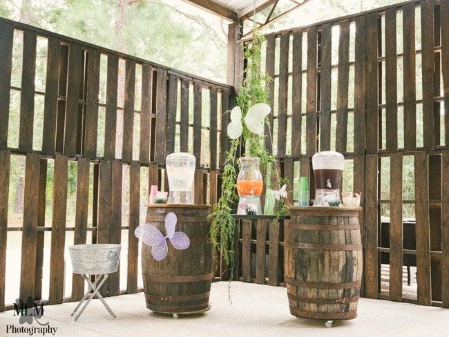 Fairy Birthday Party Beverage Station
