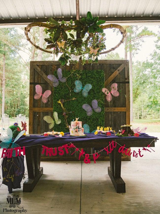 Fairy Birthday Party Dessert Table