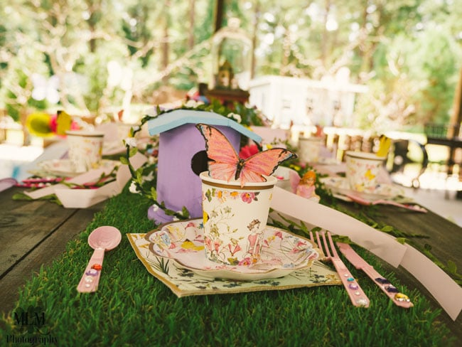 Fairy Birthday Party Place Setting