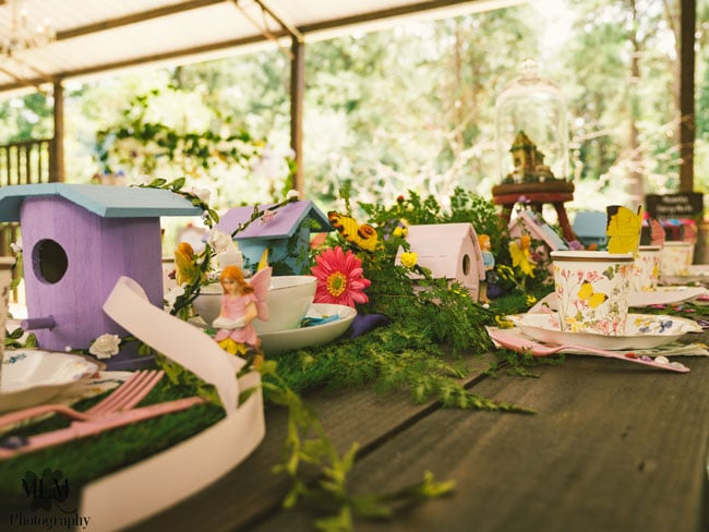 Fairy Birthday Party Table Decorations