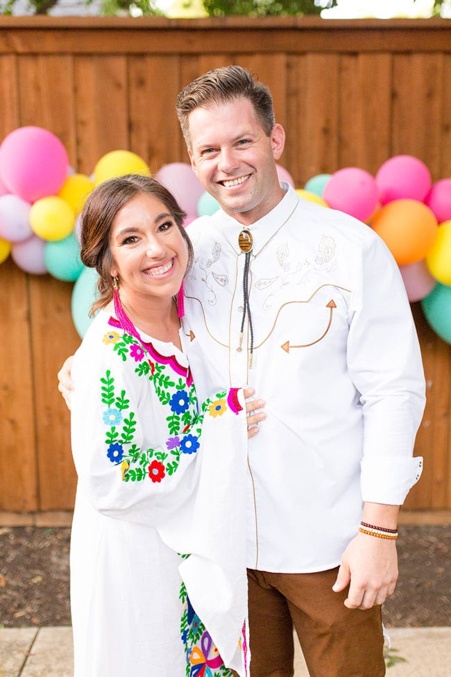 Fiesta Bridal Shower Couples Outfits