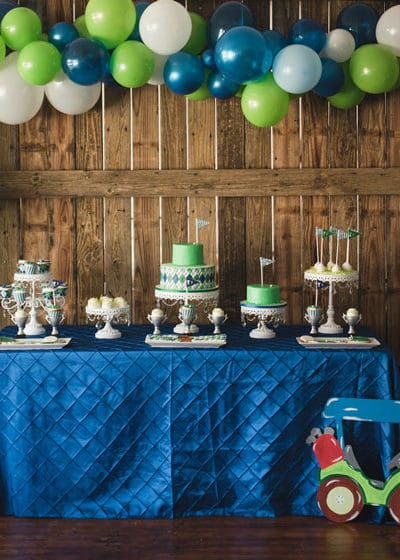 Golf Themed 1st Birthday Party