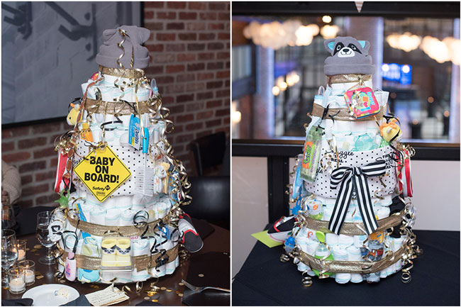 A Baby Is Brewing Baby Shower Diaper Cake