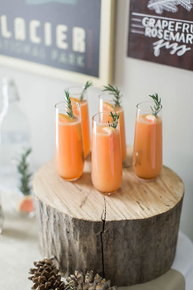 National Park Baby Shower Drinks