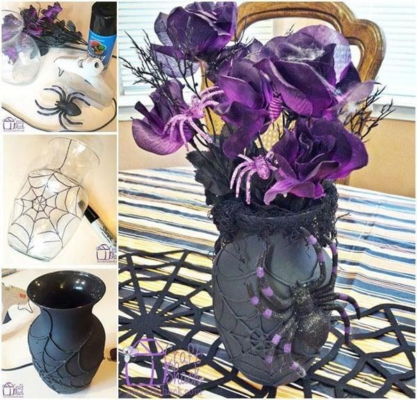 DIY Dollar Store Spider Vase