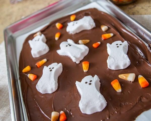 Halloween Bark Recipe Add Candy Corn