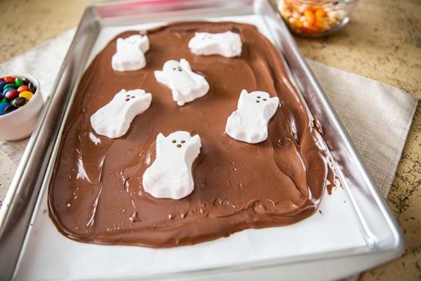 Halloween Bark Recipe Add Ghosts
