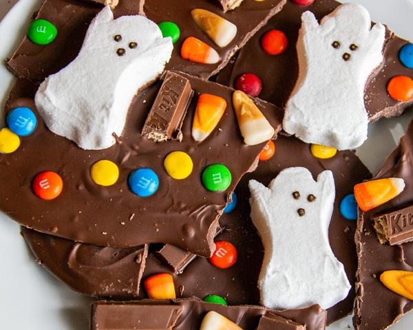 Halloween Candy Bark