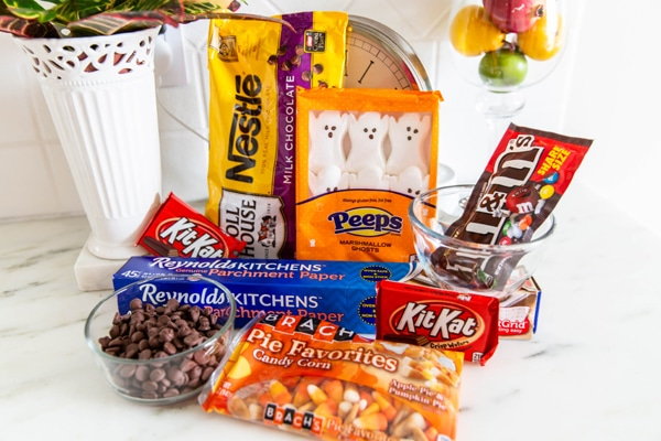 Halloween Candy Bark Leftover Halloween Candy