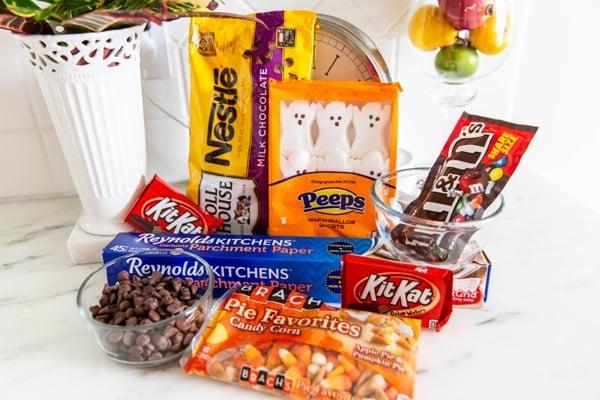 Halloween Candy Bark Leftover Halloween Candy