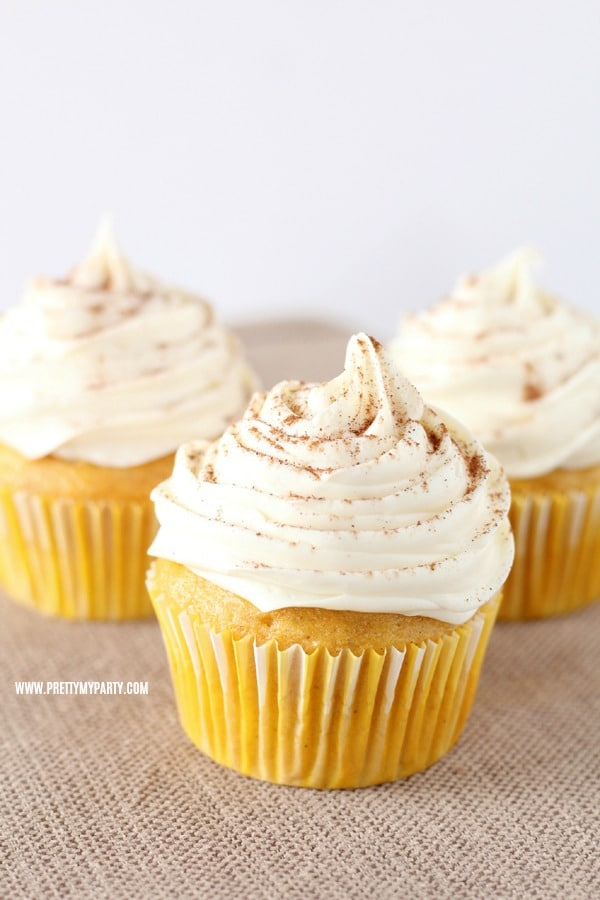 Pumpkin Spice Cupcakes on Pretty My Party