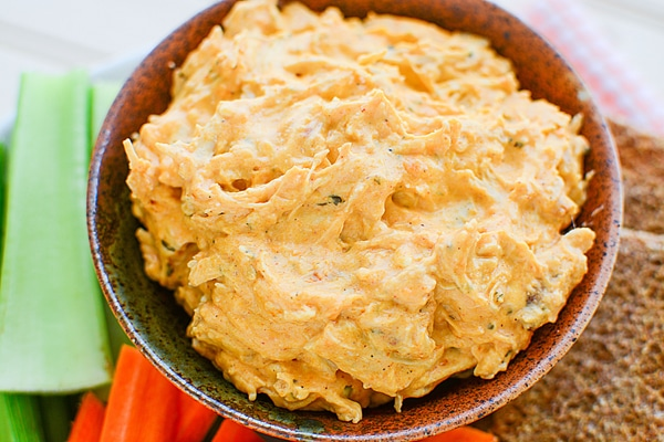 Buffalo Chicken Dip Crock Pot Recipe on Pretty My Party