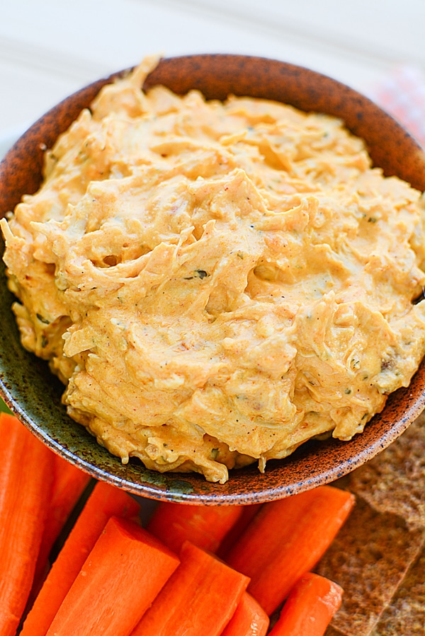 Easy Buffalo Chicken Wing Dip on Pretty My Party