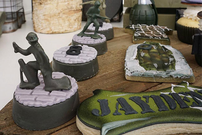 Call of Duty Birthday Party Desserts on Pretty My Party