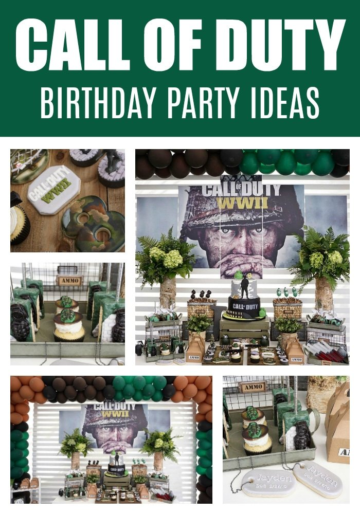 Call of Duty Birthday Party on Pretty My Party