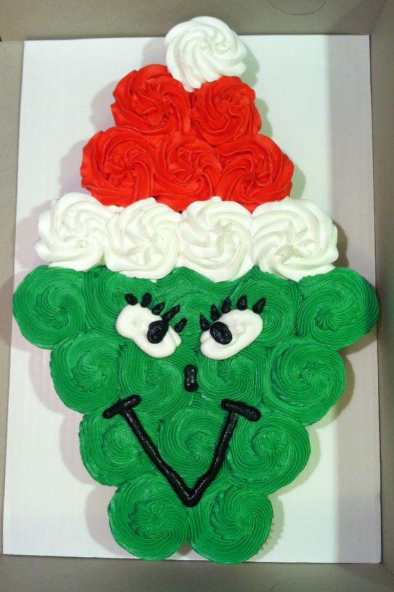 Grinch Cupcake Cake