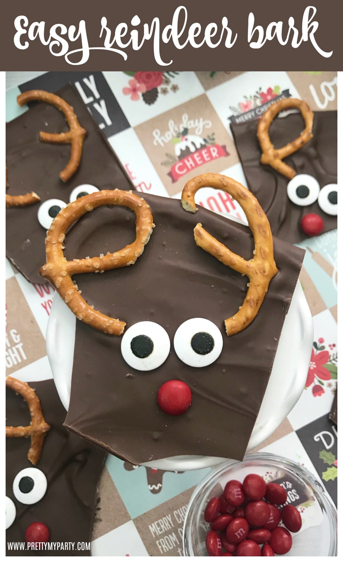 Easy Reindeer Bark Recipe on Pretty My Party