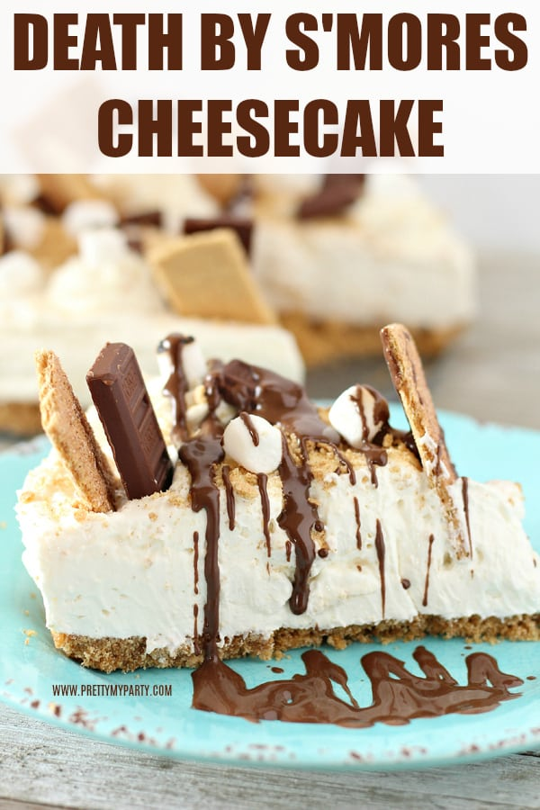 Death By S'mores Cheesecake Recipe on Pretty My Party