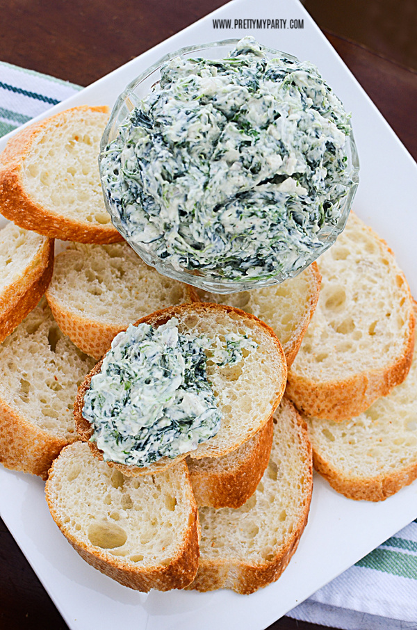 Homemade Spinach Dip on Pretty My Party