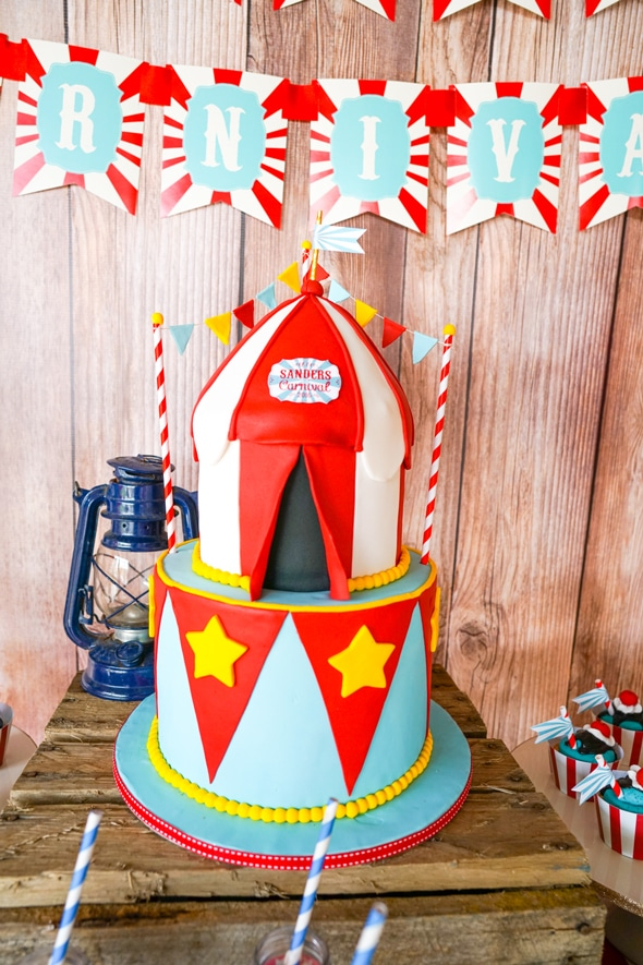Carnival Birthday Cake - Awesome Birthday Cakes For Boys on Pretty My Party