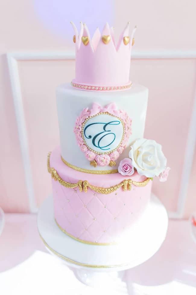 Princess Birthday Cake on Pretty My Party