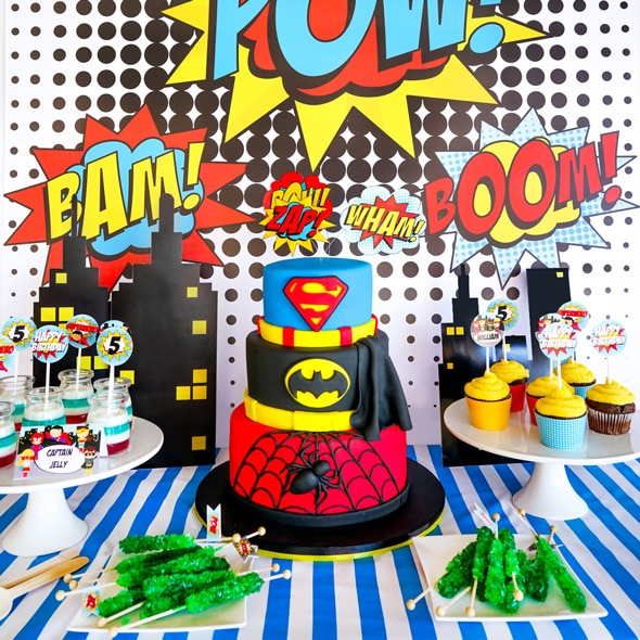 Superhero Birthday Cake - Awesome Birthday Cakes For Boys on Pretty My Party