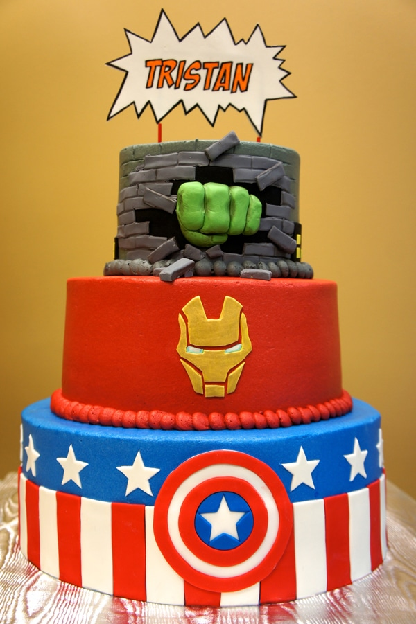 Avengers Birthday Cake - Awesome Birthday Cakes For Boys on Pretty My Party
