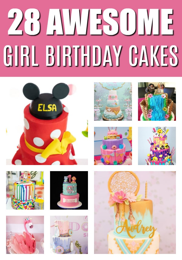 28 Awesome Birthday Cakes For Girls on Pretty My Party