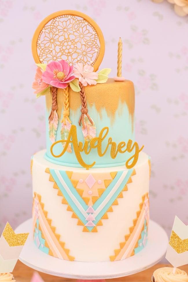 Boho Birthday Cake - Awesome Birthday Cakes For Girls on Pretty My Party
