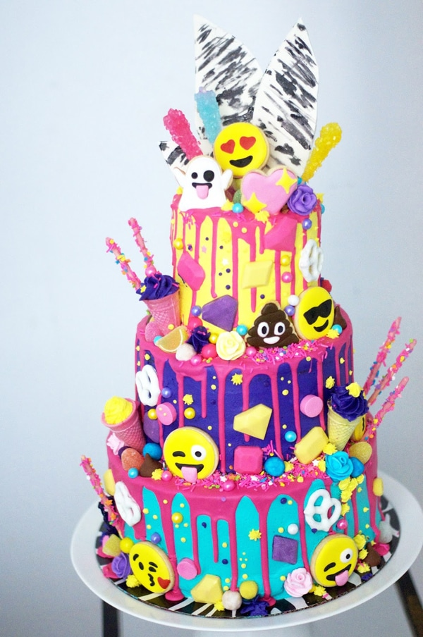 Emoji Birthday Cake - Awesome Birthday Cakes For Girls on Pretty My Party