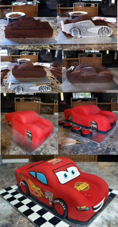 Disney Cars Birthday Cake - Awesome Birthday Cakes For Boys on Pretty My Party
