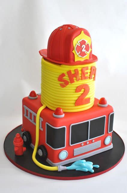 Firefighter Birthday Cake - Awesome Birthday Cakes For Boys on Pretty My Party