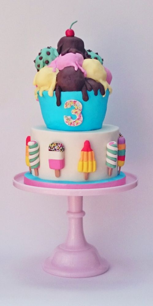 Ice Cream Birthday Cake - Awesome Birthday Cakes For Girls on Pretty My Party