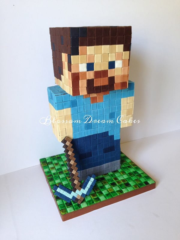 Awesome Minecraft Cake