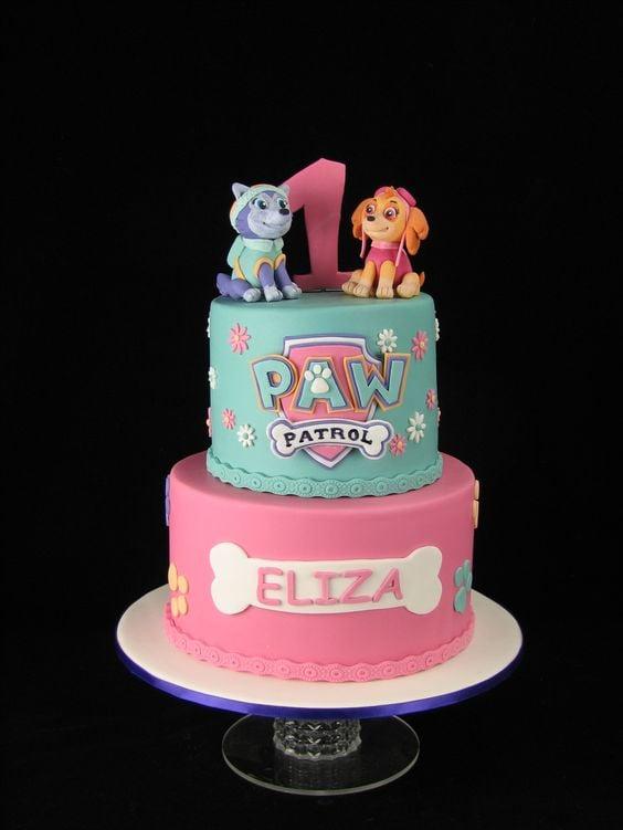 Skye Paw Patrol Cake - Awesome Birthday Cakes For Girls on Pretty My Party