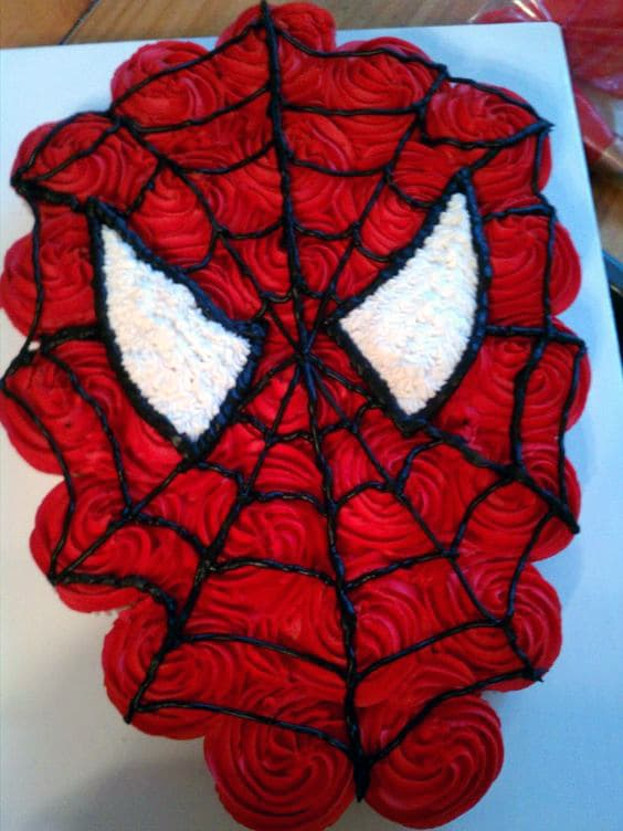 Spiderman Cupcake Cake - Awesome Cakes For Boys on Pretty My Party