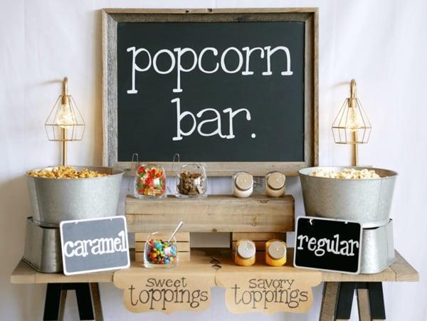 Popcorn Bar - Sleepover Party Ideas