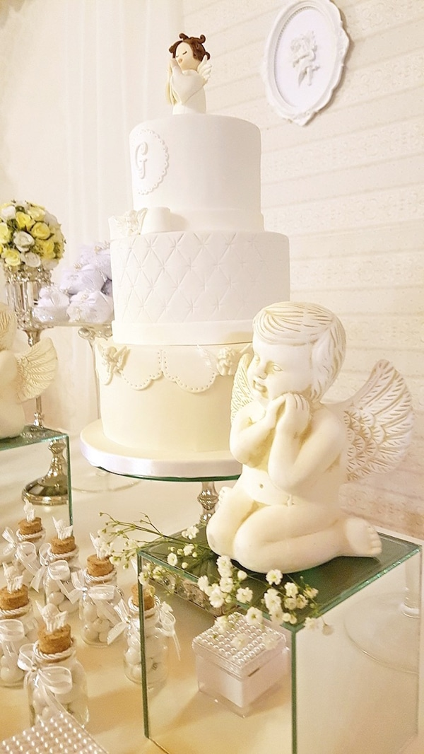 White Angel Baptism Party - Baptism Party Ideas