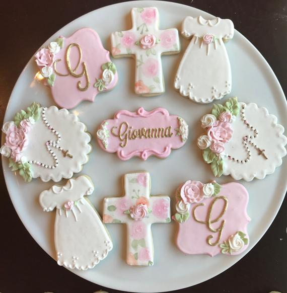 Baptism Cookies - Baptism and Christening Party Ideas