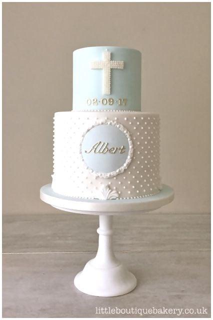 Boy Christening Cake - Baptism Party Ideas