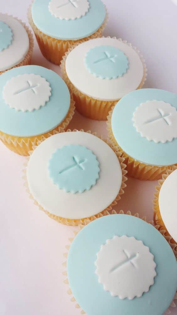 Cross Cupcakes - Christening Party Ideas